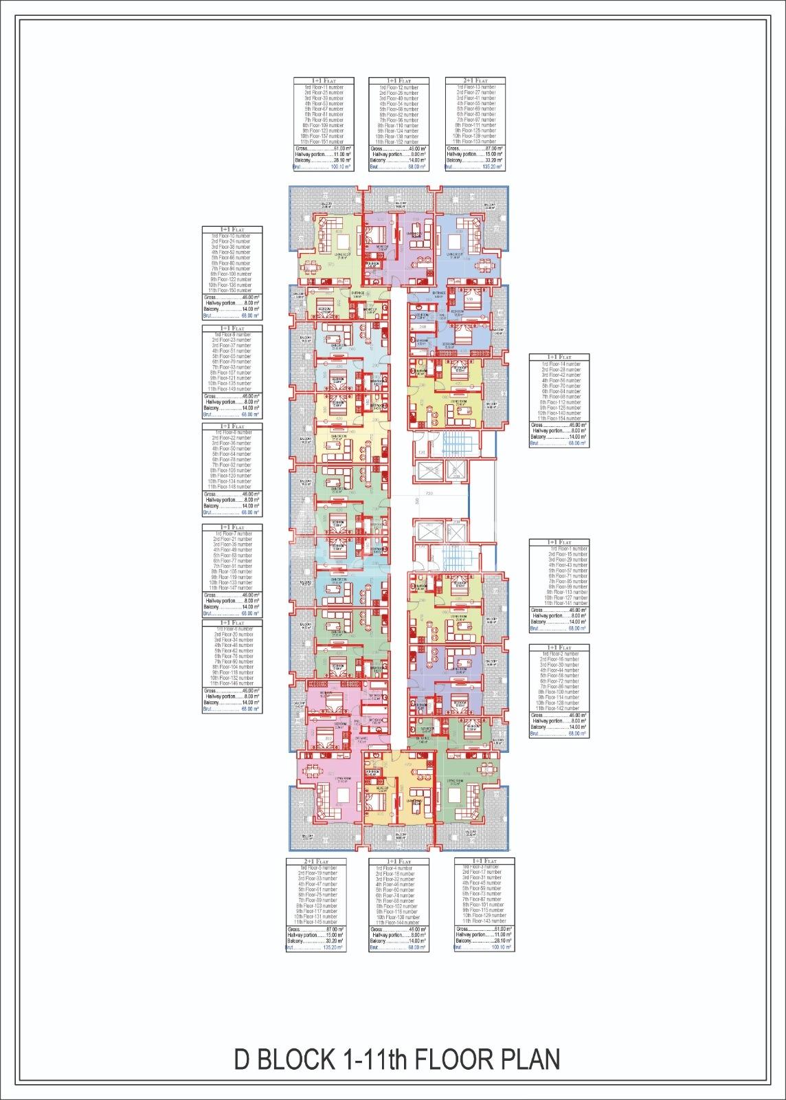 Квартиры всех типов планировок в Махмутларе - Фото 19