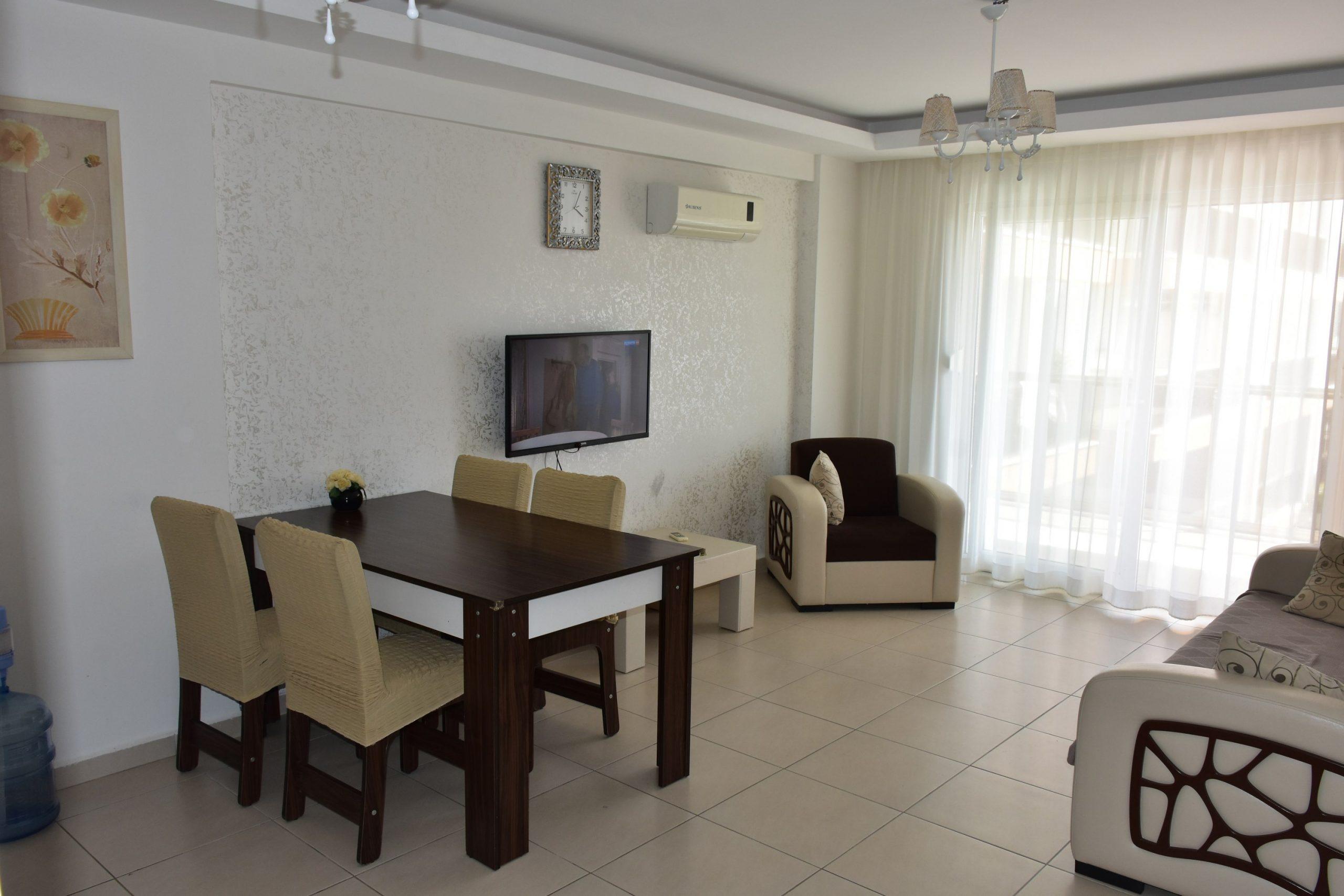 Двухкомнатная квартира с мебелью в посёлке Авсаллар - Фото 9