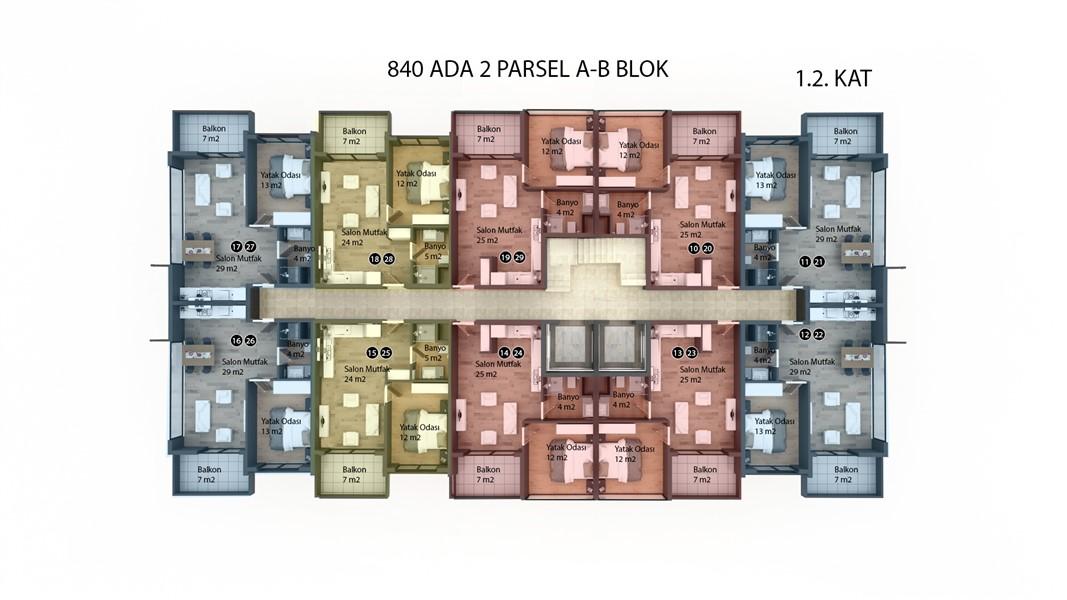Квартиры в строящемся жилом комплексе район Кестель - Фото 40