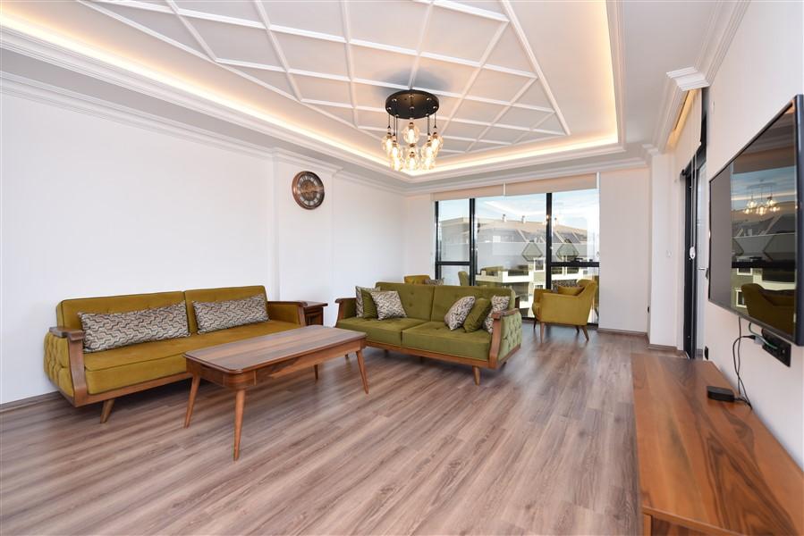 Роскошная меблированная квартира 3+1 в центральном районе Аланьи - Фото 15