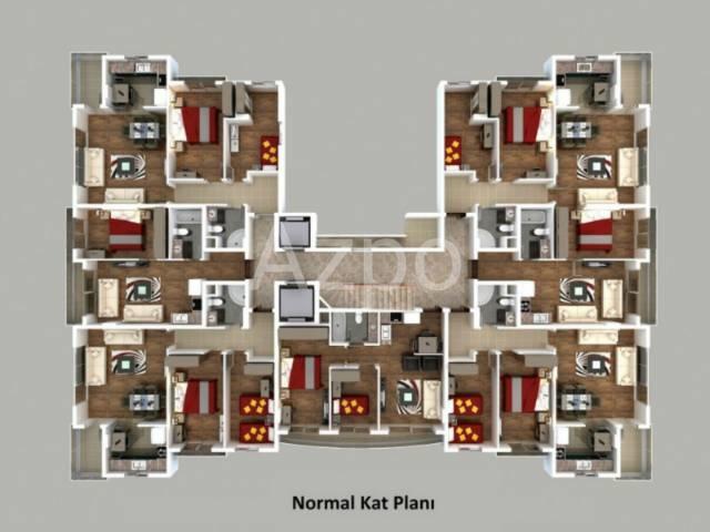 Квартира 1+1 у подножья Торосских гор в Коньяалты Анталия - Фото 2