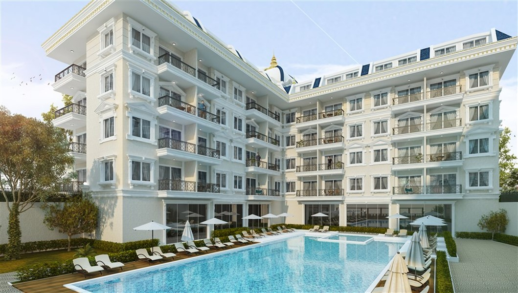 Двухкомнатная квартира в новом комплексе район Оба - Фото 1