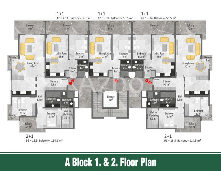 Квартиры и пентхаусы в новом комплексе Оба - Фото 13