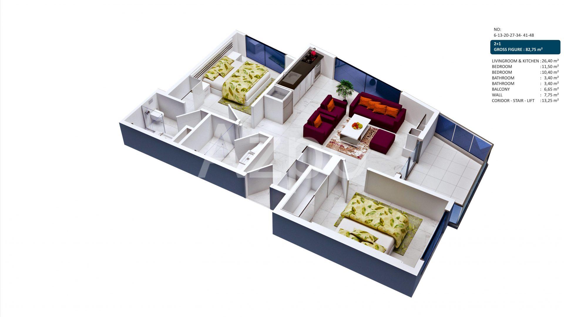 Апартаменты в центре Алании - Фото 26