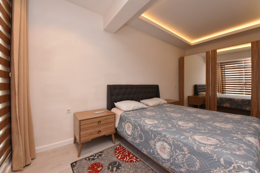 Двухкомнатная квартира с мебелью в центре Аланьи - Фото 16
