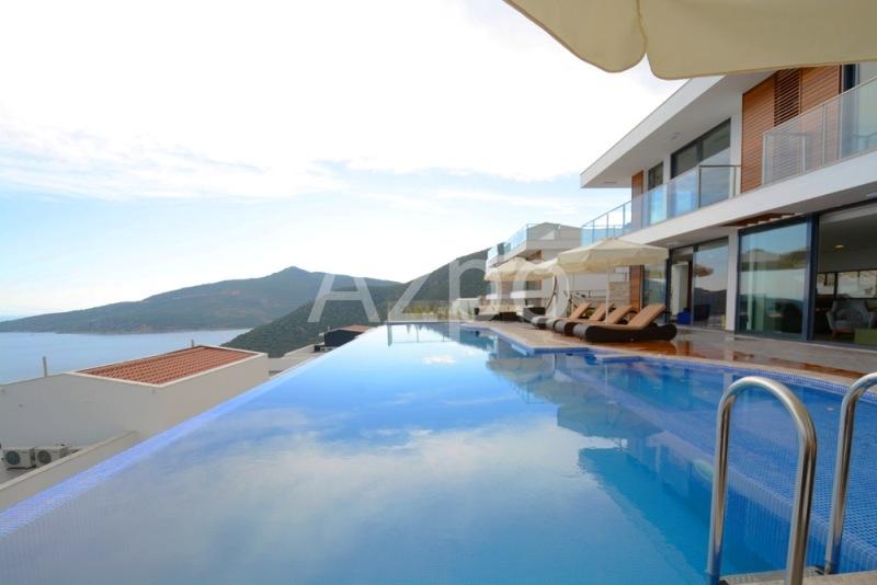 Меблированная вилла 5+1 с видом на море в городе Калкан - Фото 3