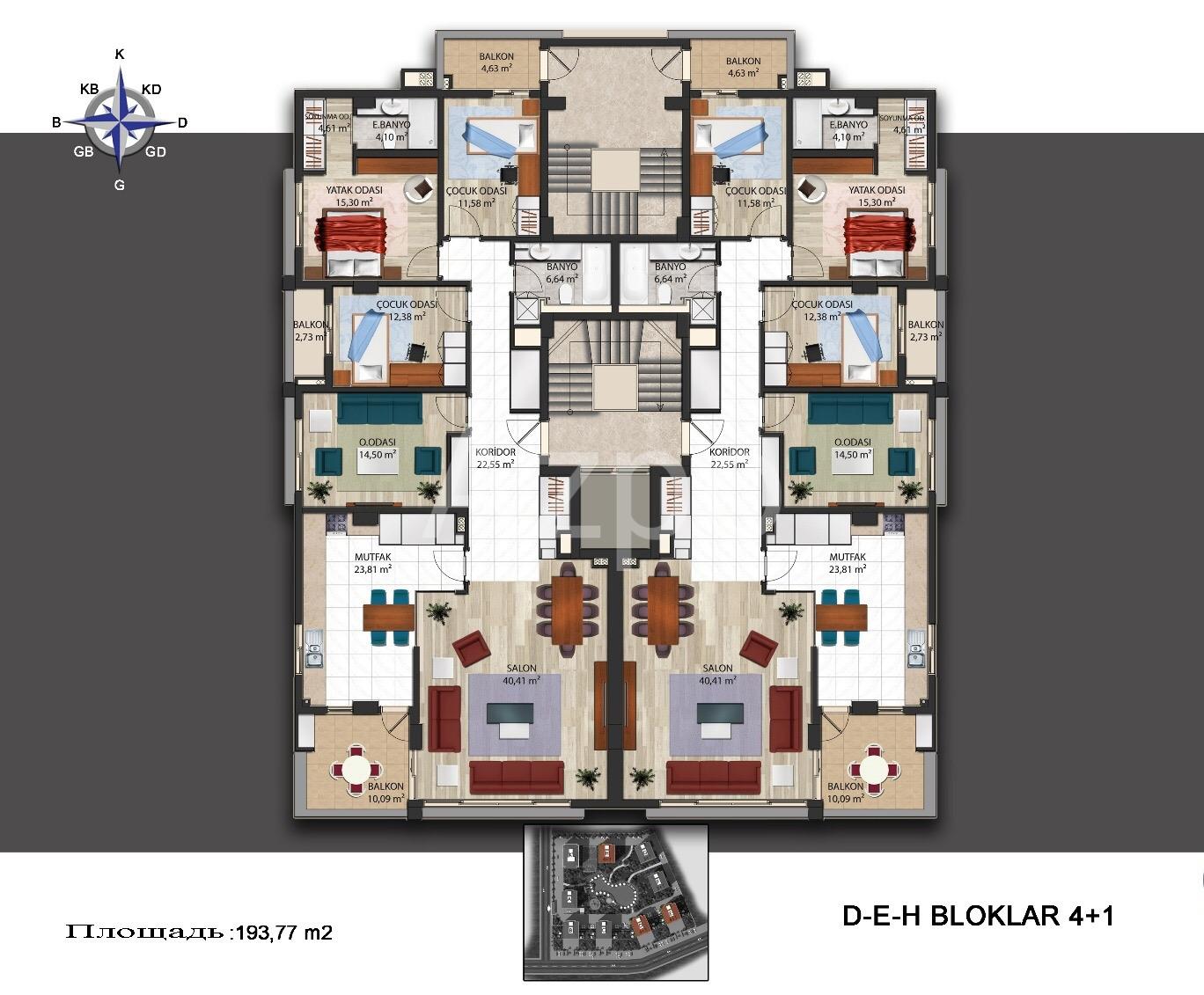 Квартиры в новом комплексе в районе Кепез - Фото 12