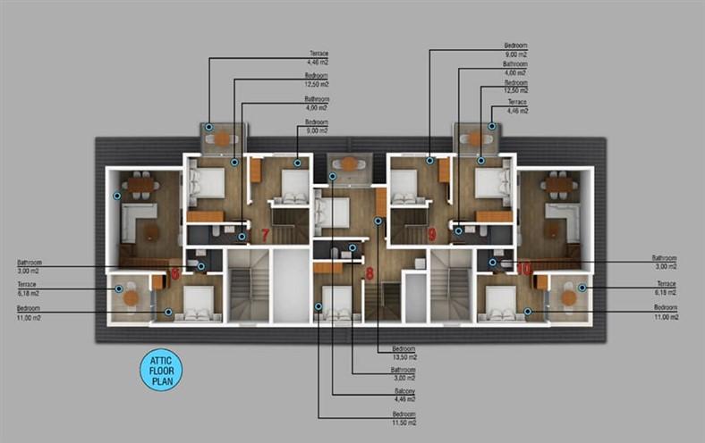 Двухкомнатные квартиры в новом комплексе Фетхие - Фото 6