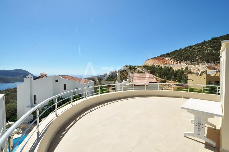 Меблированная вилла 3+1 с видом на море на курорте Калкан - Фото 12