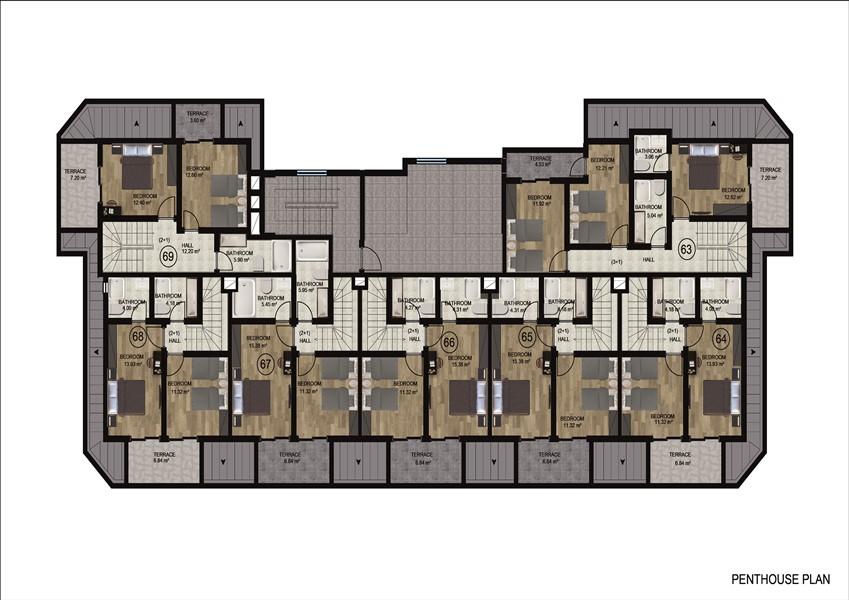 Квартиры в районе Демирташ по ценам застройщика - Фото 24