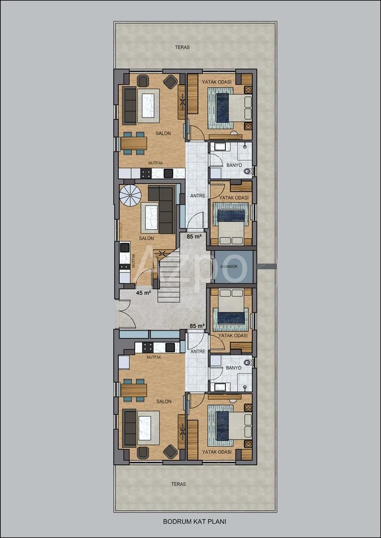На продажу квартиры в бутик отеле в Коньяалты - Фото 20