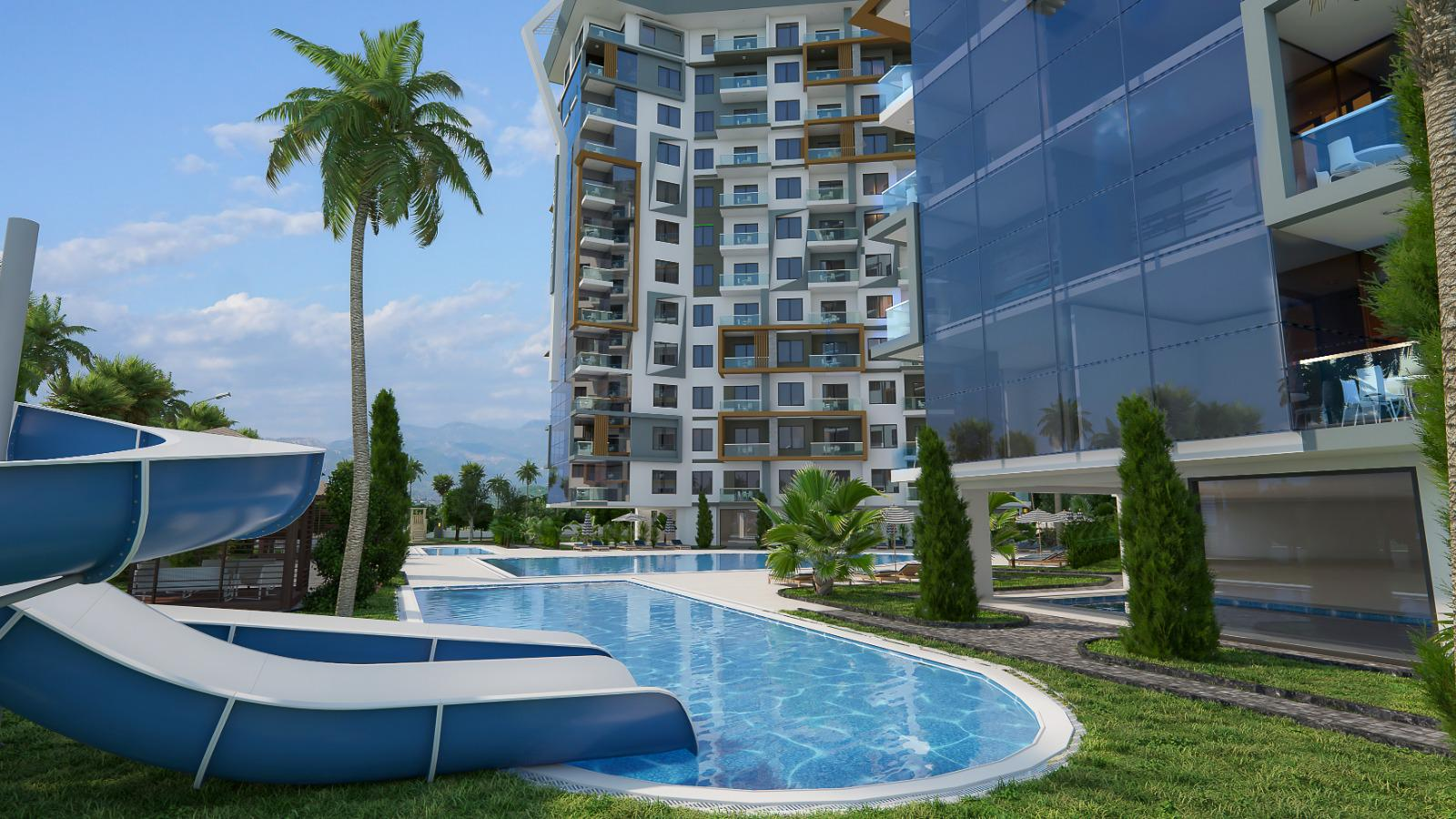 Квартиры и пентхаусы в комплексе с богатой инфраструктурой район Махмутлар - Фото 8