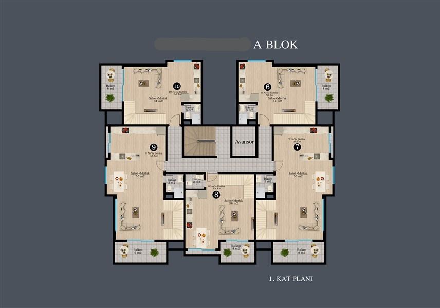 Современные квартиры в строящемся жилом комплексе - Фото 37