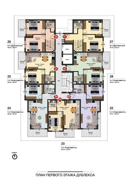 Новые квартиры разных планировок в центре Алании - Фото 12