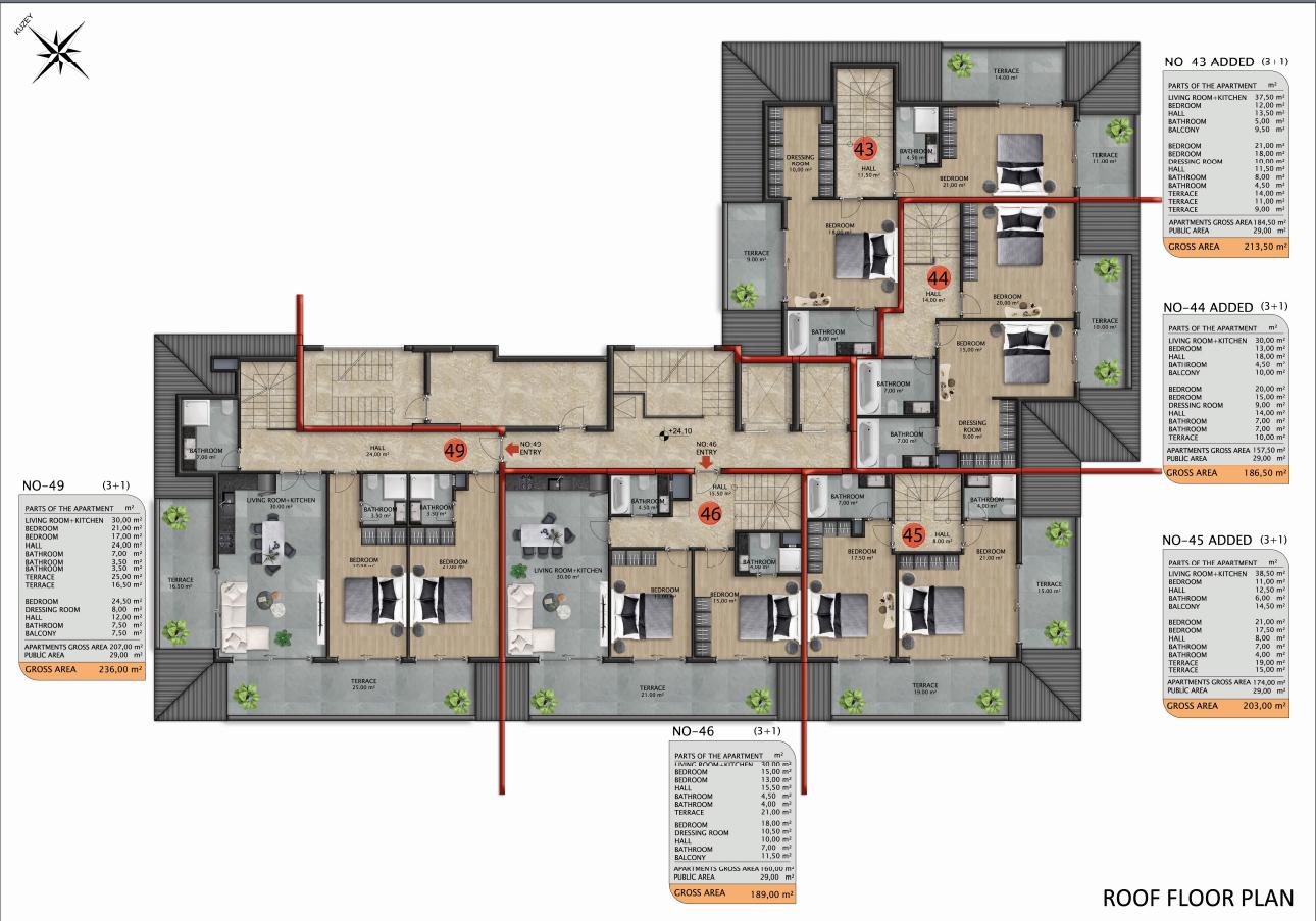 Квартиры и пентхаусы в строящемся комплексе - Фото 49