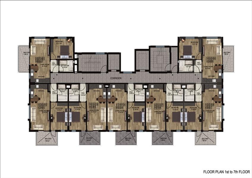 Квартиры в районе Демирташ по ценам застройщика - Фото 22