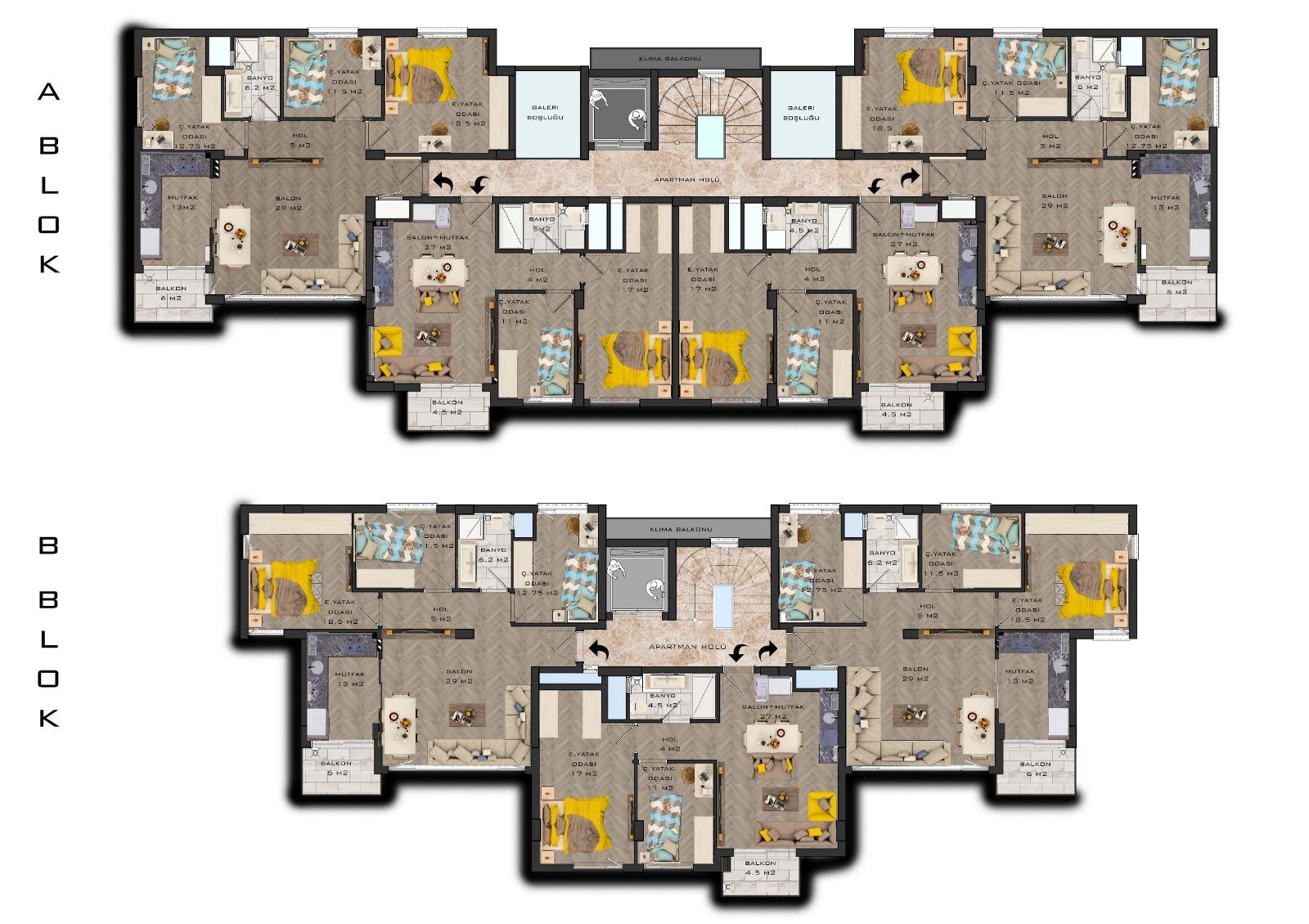 Квартиры от застройщика в Муратпаша Анталья - Фото 11