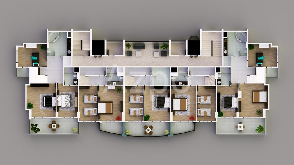 Апартаменты от застройщика в Махмутларе - Фото 25