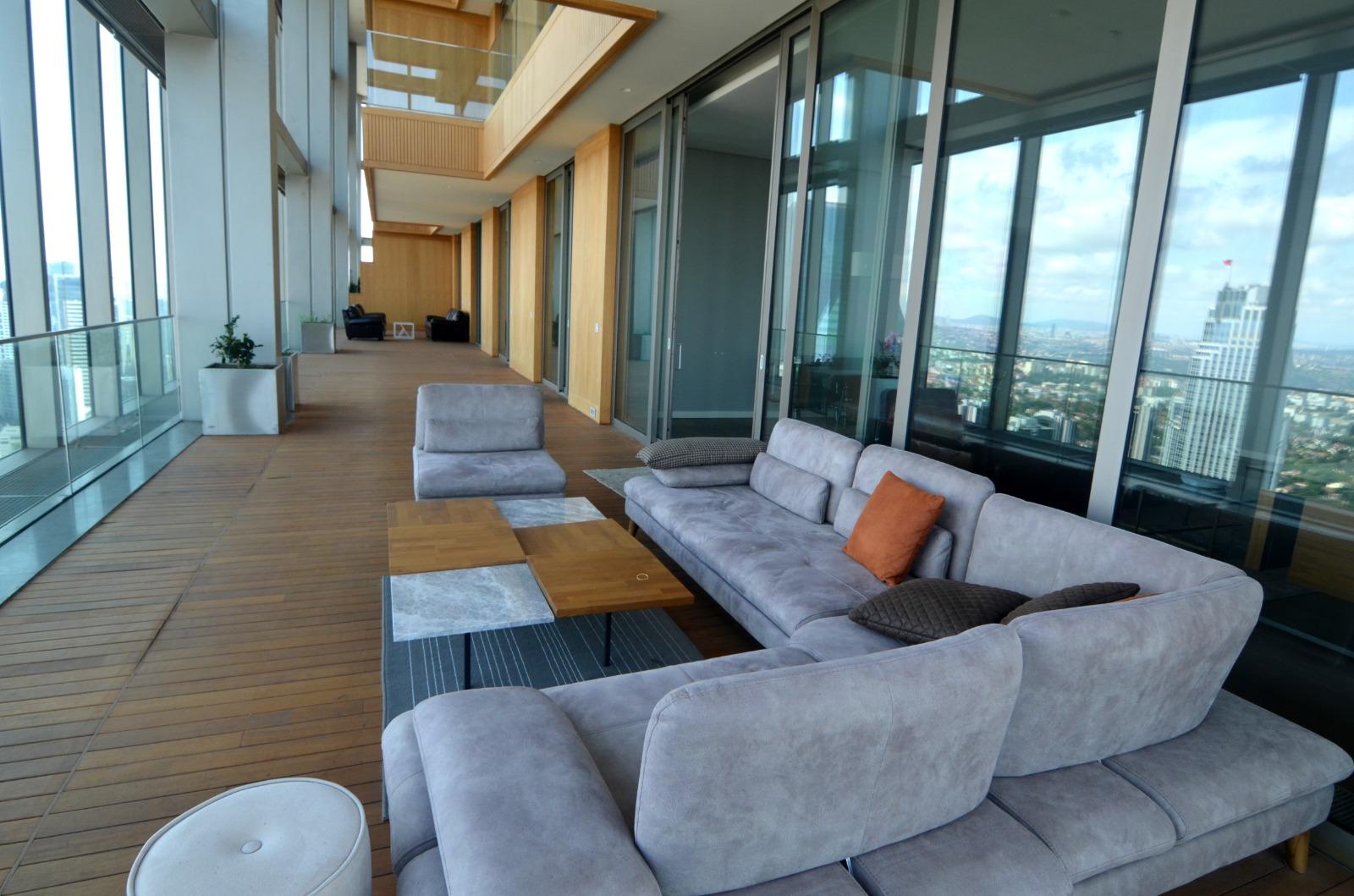 Элитная квартира в  высоком небоскребе Стамбула - Фото 13