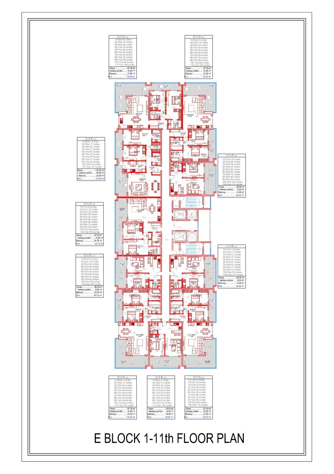 Квартиры всех типов планировок в Махмутларе - Фото 25