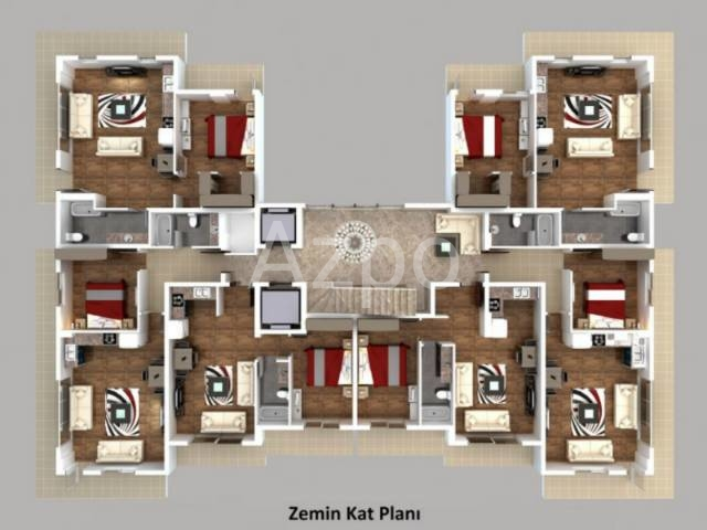 Квартира 1+1 у подножья Торосских гор в Коньяалты Анталия - Фото 1