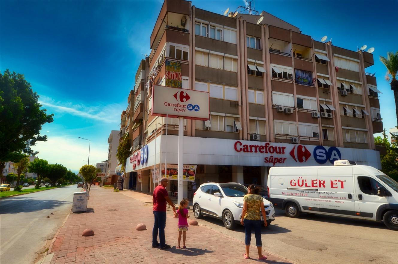 Четырёхкомнатная квартира с отдельной кухней в центральном районе Антальи - Фото 1