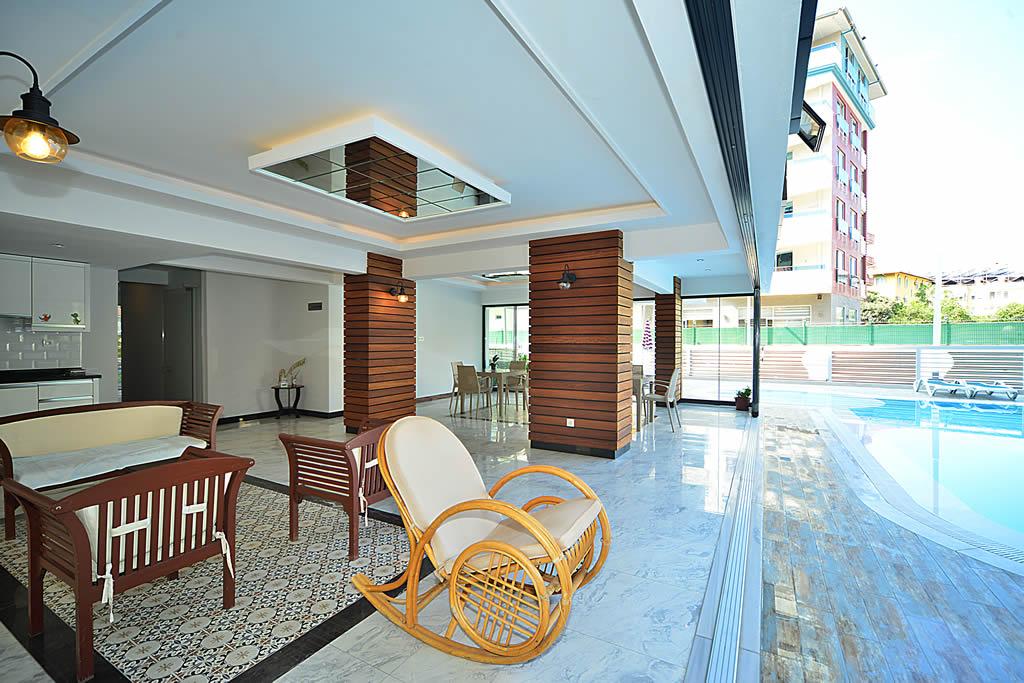 Двухкомнатная квартира с мебелью в центре Аланьи - Фото 4