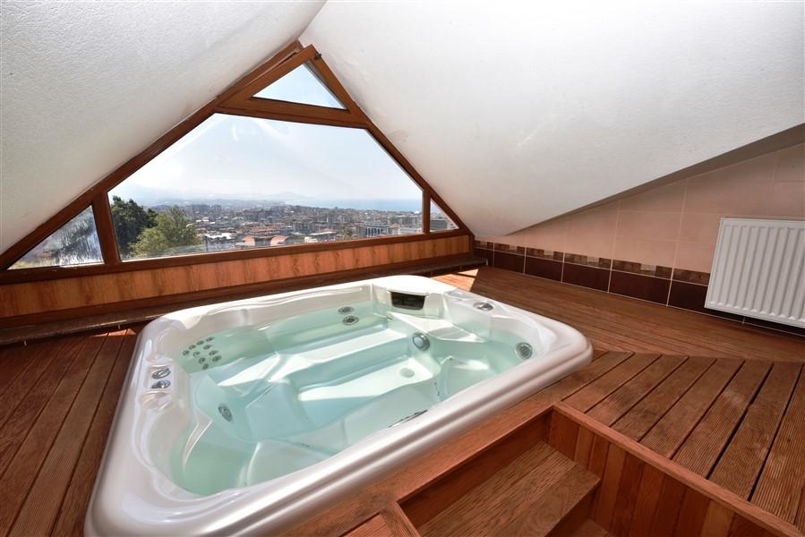 Меблированный пентхаус 3+1 с панорамным видом на Аланью - Фото 27