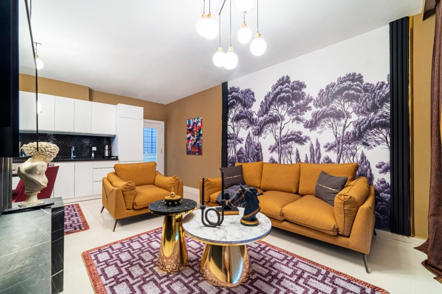 Уютная меблированная квартира 1+1 в роскошном жилом комплексе с инфраструктурой - Фото 26