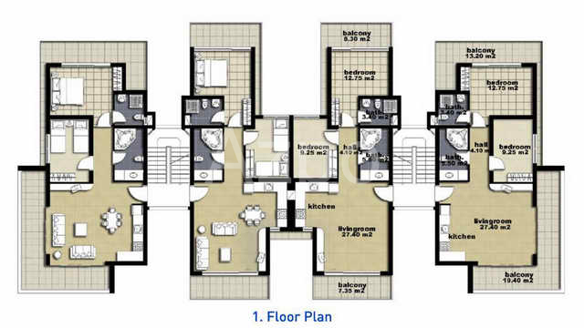 Апартаменты и пентхаусы к новом комплексе Белек - Фото 25