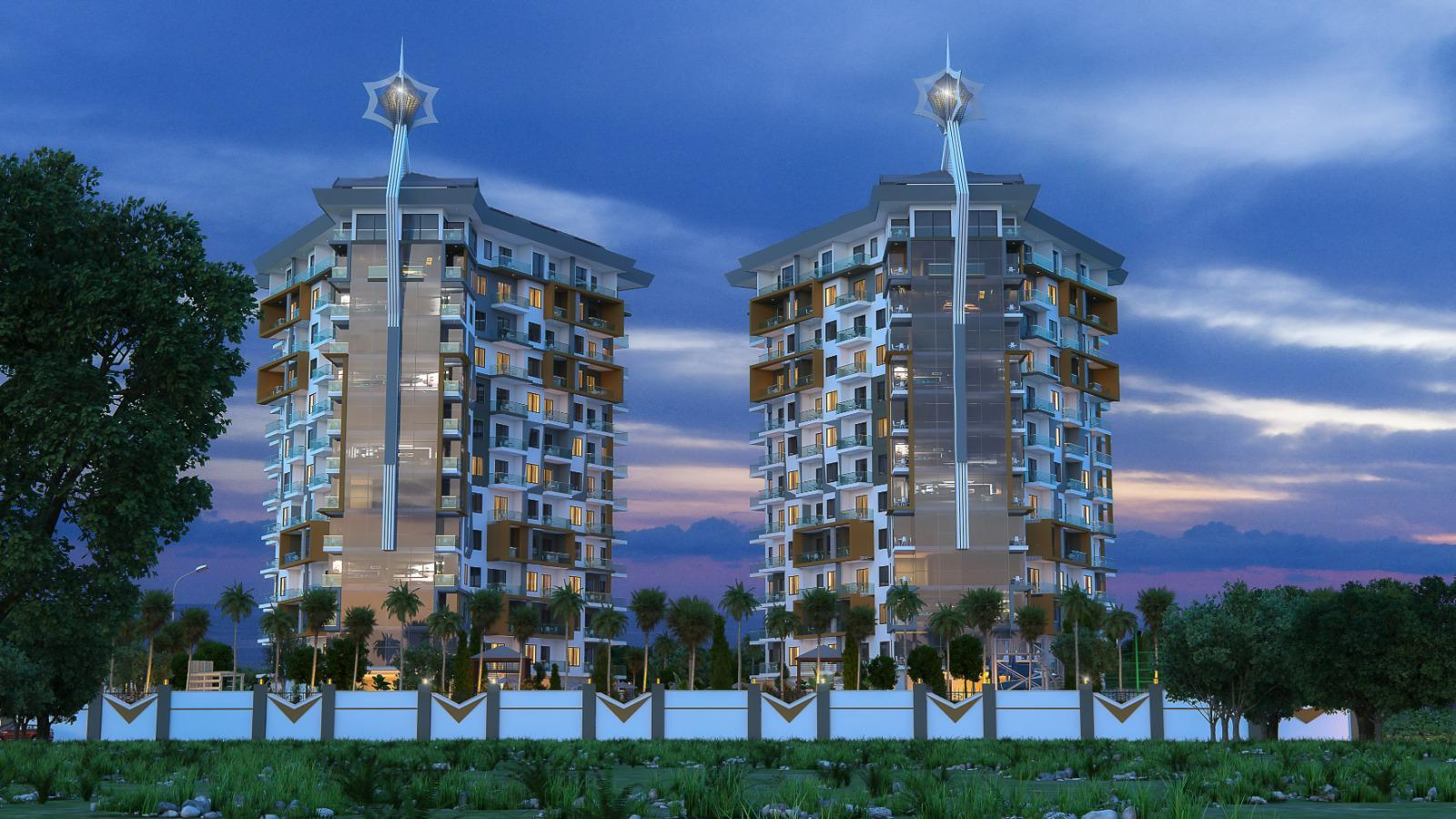 Квартиры и пентхаусы в комплексе с богатой инфраструктурой район Махмутлар - Фото 2