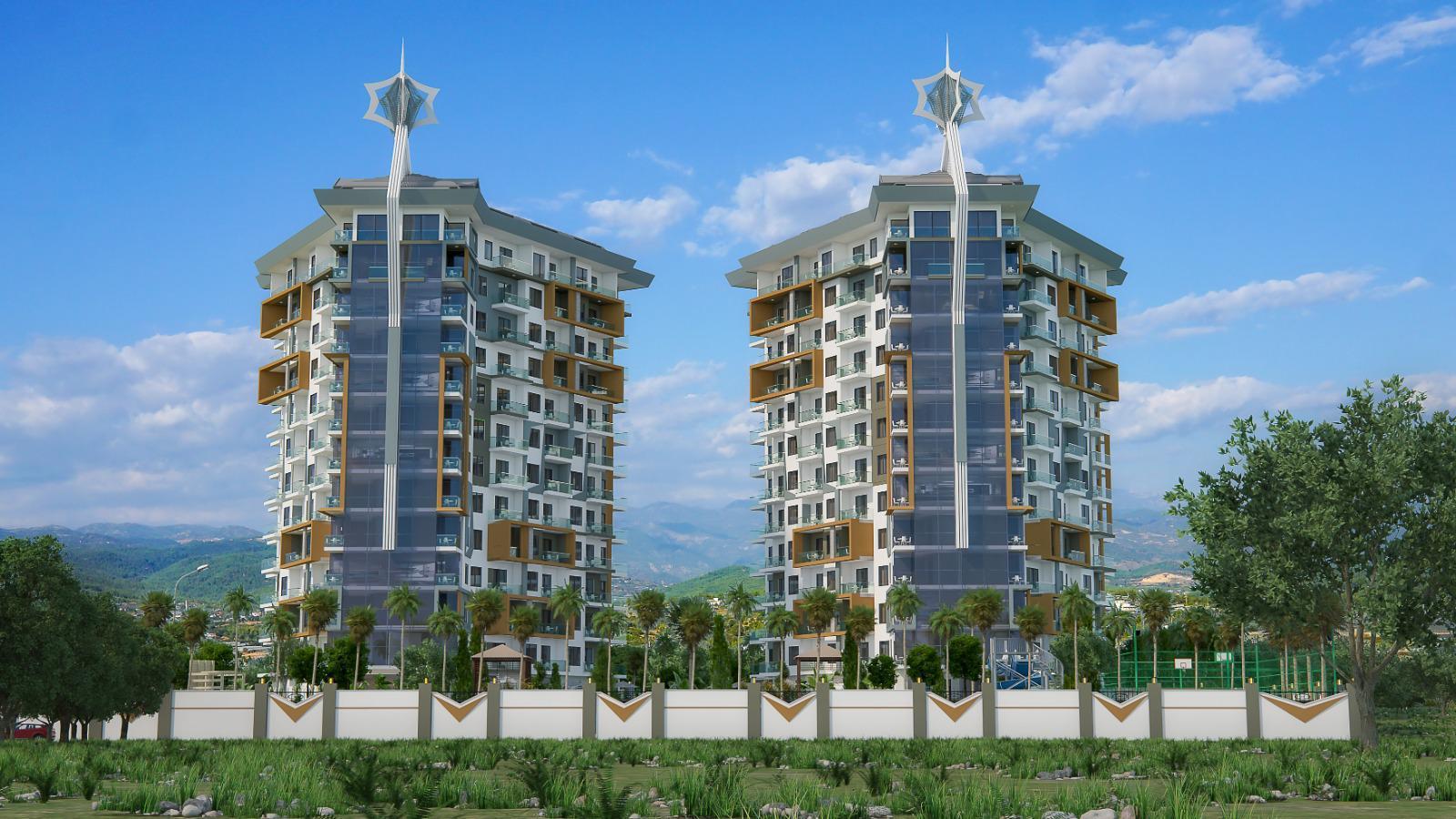 Квартиры и пентхаусы в комплексе с богатой инфраструктурой район Махмутлар