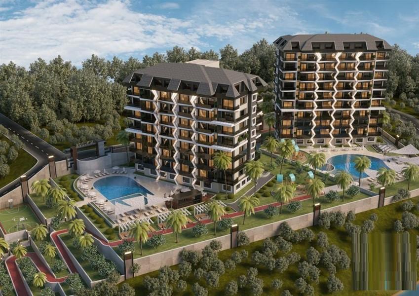 Новые квартиры в строящемся комплексе.
