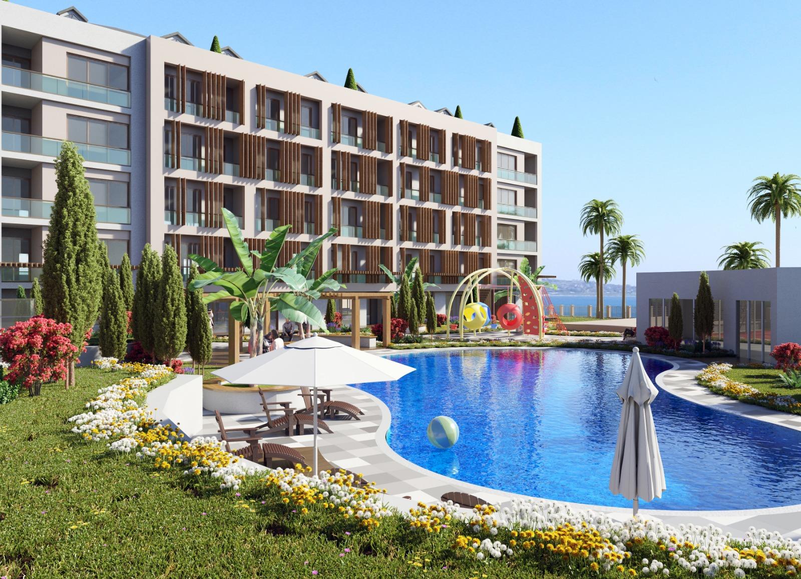 Апартаменты в новом комплексе на берегу моря
