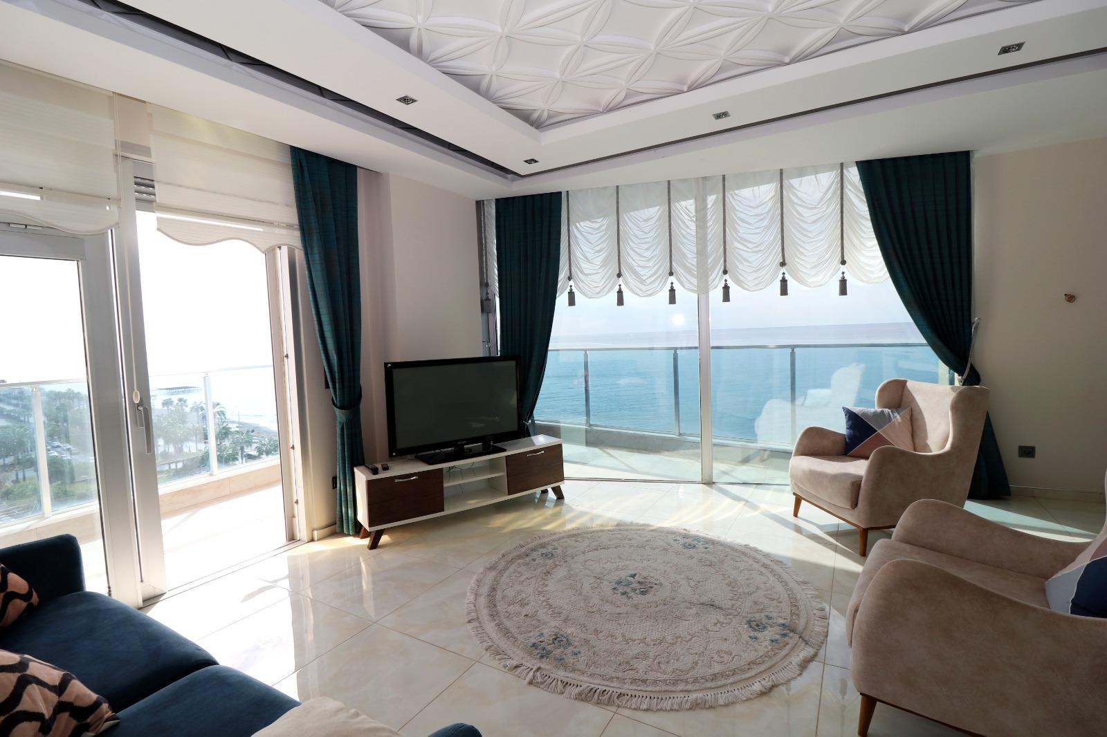 Меблированная квартира 1+1 с панорамным видом на Средиземное море - Фото 11