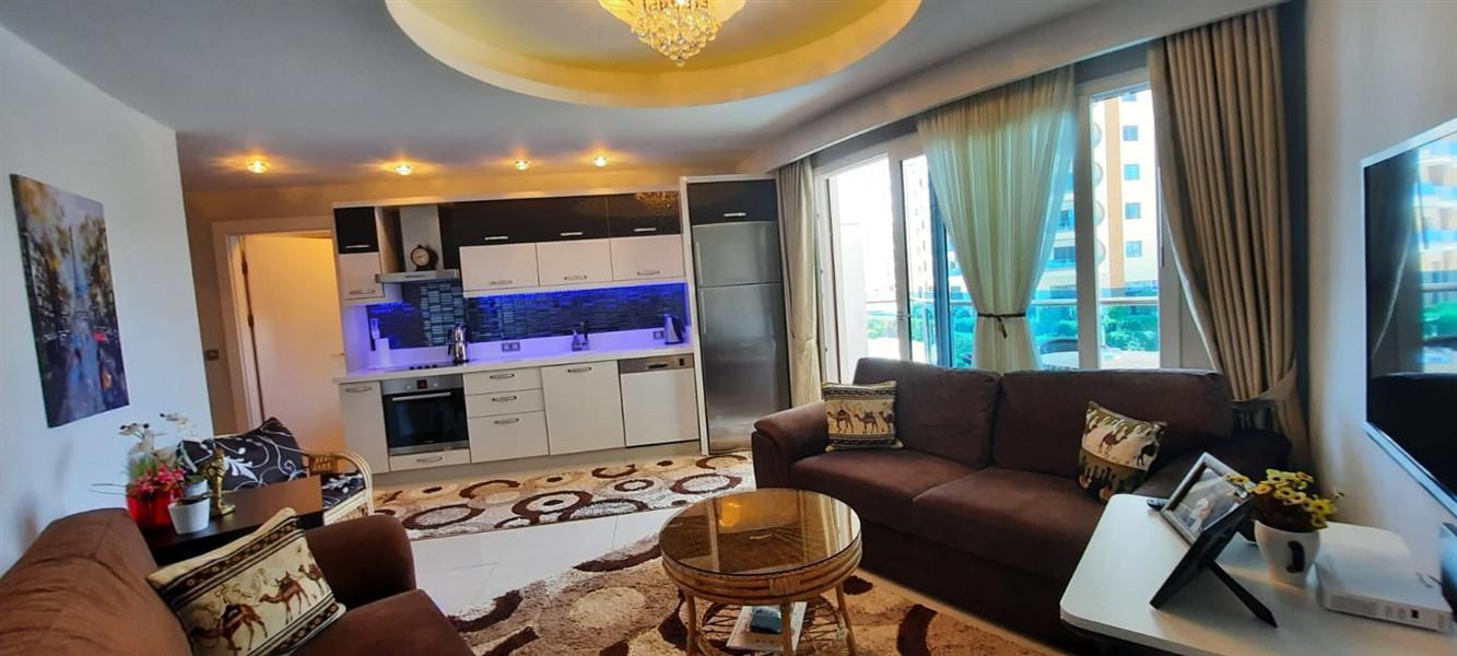 Меблированная квартира 1+1 в жилом комплексе с инфраструктурой отельного типа. - Фото 14