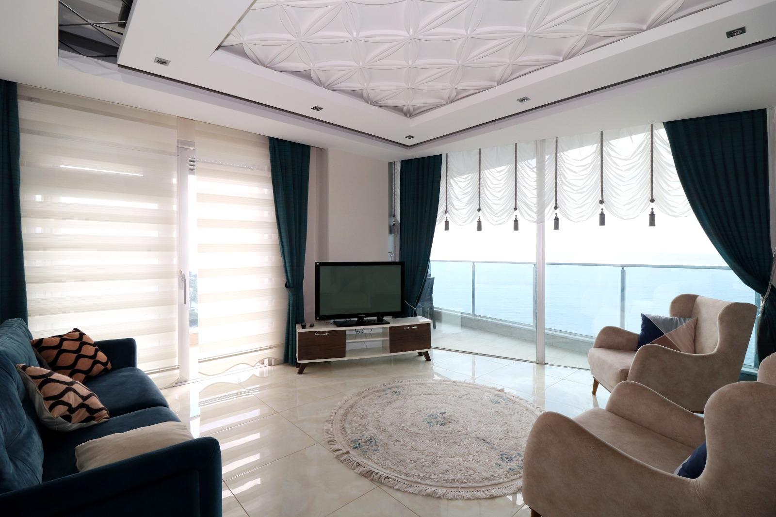 Меблированная квартира 1+1 с панорамным видом на Средиземное море - Фото 9