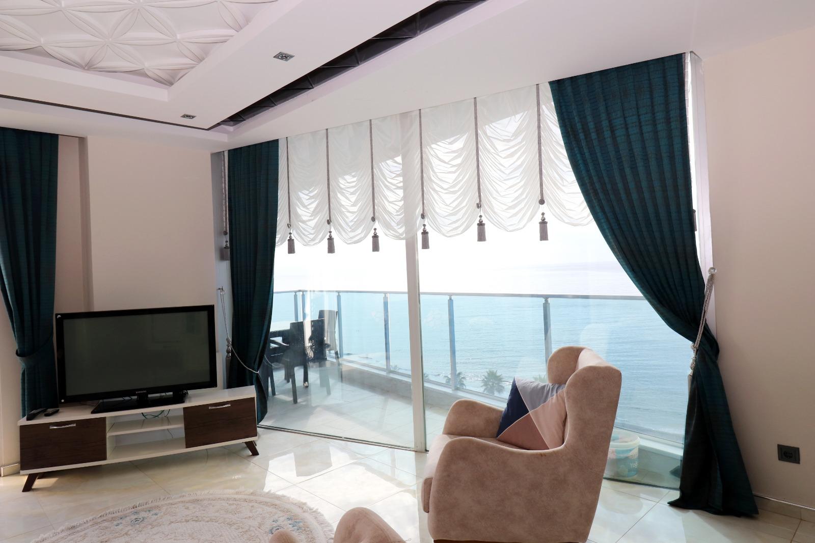 Меблированная квартира 1+1 с панорамным видом на Средиземное море - Фото 10