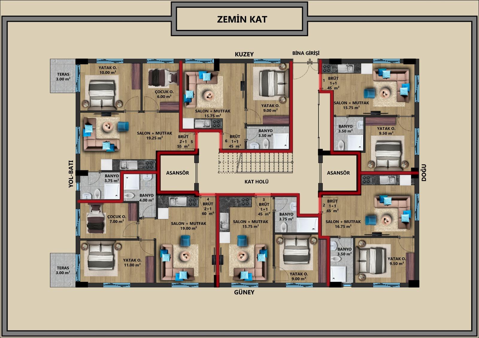 Квартиры в строящемся жилом комплексе в центре Антальи - Фото 2
