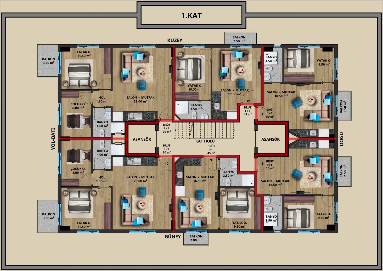 Квартиры в строящемся жилом комплексе в центре Антальи - Фото 3