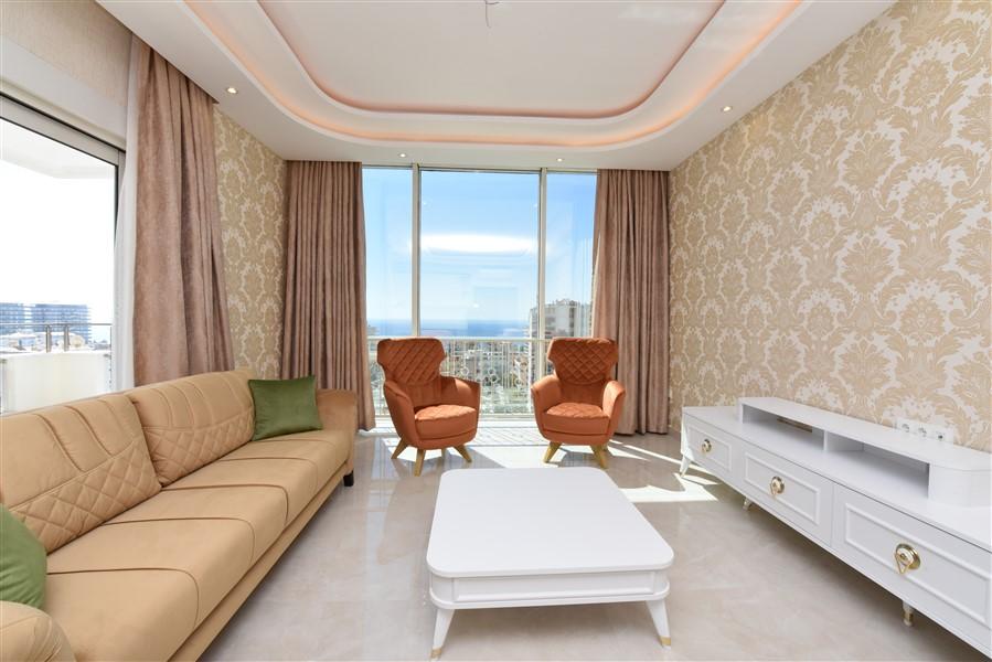 Меблированная квартира 2+1 с видом на Средиземное море. - Фото 19