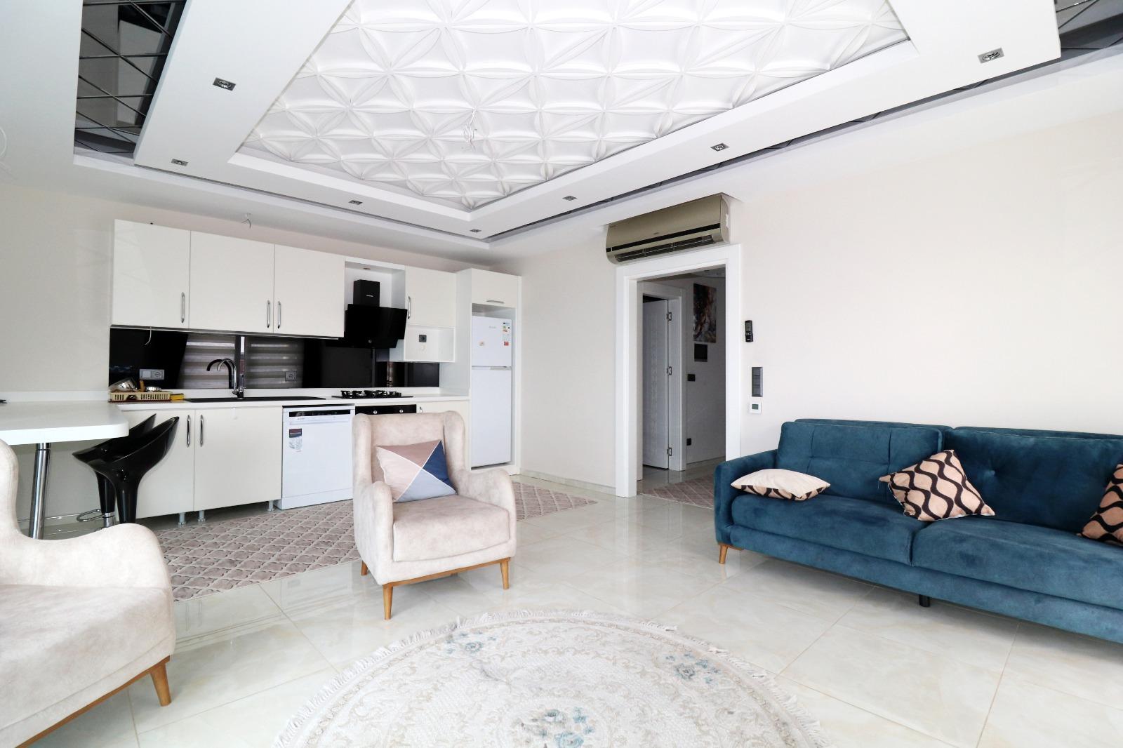 Меблированная квартира 1+1 с панорамным видом на Средиземное море - Фото 6