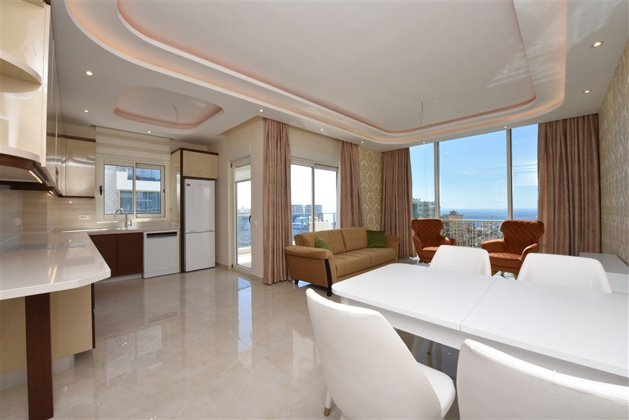 Меблированная квартира 2+1 с видом на Средиземное море. - Фото 21