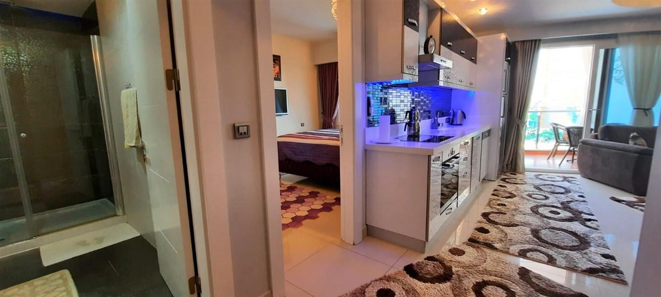 Меблированная квартира 1+1 в жилом комплексе с инфраструктурой отельного типа. - Фото 17