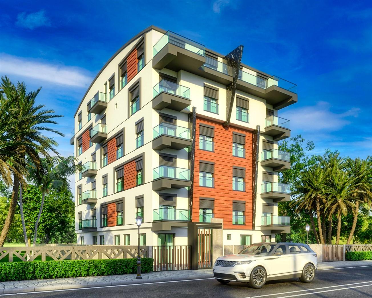 Квартиры в строящемся жилом комплексе в центре Антальи