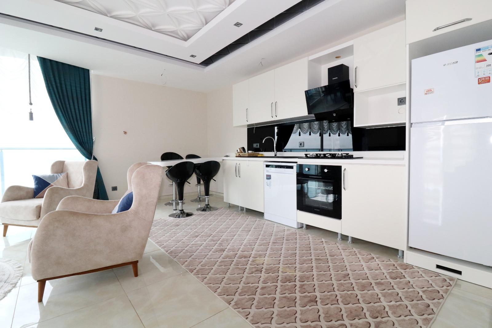 Меблированная квартира 1+1 с панорамным видом на Средиземное море - Фото 7